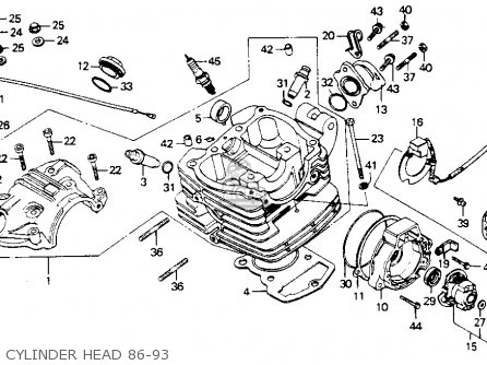honda four wheeler wiring diagram with Honda Trx250r Engine Diagram on Partslist moreover Honda 50cc Wiring Diagram moreover Four Wheeler Carburetor Diagram in addition 1986 Yamaha Moto 4 200 Wiring Diagram also Honda Fourtrax 300 Battery Location.