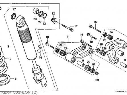 Honda XR200R 1996 (T) CANADA / REF parts lists and schematics