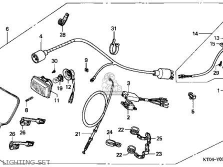 honda xr200r 1996  t  usa parts list partsmanual partsfiche