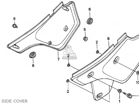 honda xr250l parts diagram