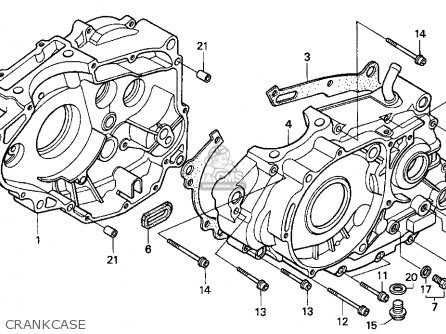 honda xr250l 1992  n  usa parts list partsmanual partsfiche