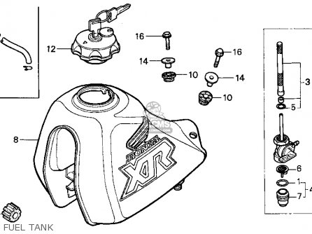 honda xr250r carburetor diagram