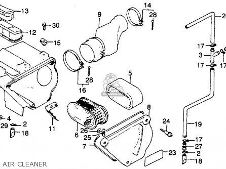 honda xr250r 1982 c usa parts lists and schematics XR 750 Engine honda xr250r 1982 c usa air cleaner