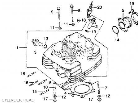 honda xr250r 1982 c usa parts lists and schematics 1995 Honda Xr250 cylinder head