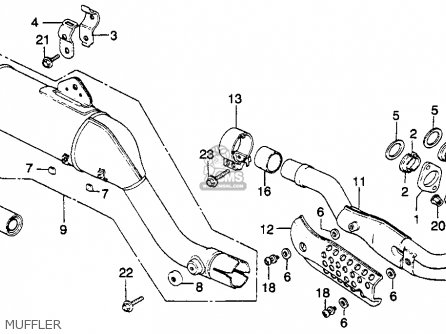honda xr250r 1982 c usa parts lists and schematics Xr250 Bikes Project honda xr250r 1982 c usa muffler
