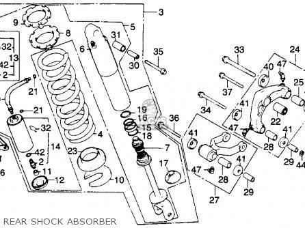 honda xr250r 1982 c usa parts lists and schematics 1987 Honda Xr250 honda xr250r 1982 c usa rear shock absorber