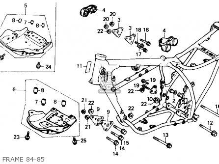 Honda Xr250r 1984 e Usa Frame 84-85