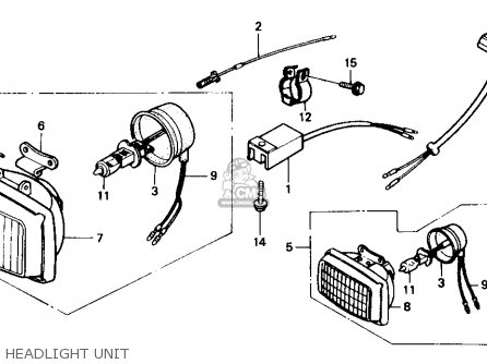 Honda Xr250r 1984 e Usa Headlight Unit