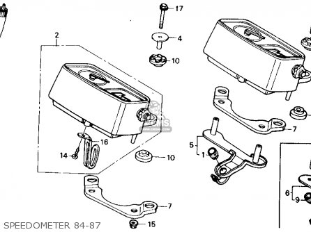 Honda Xr250r 1984 e Usa Speedometer 84-87