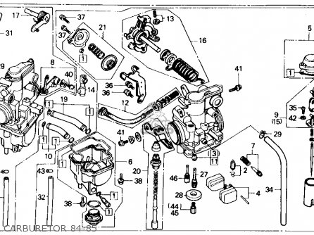 Honda Xr250r 1984 Usa Carburetor 84-85