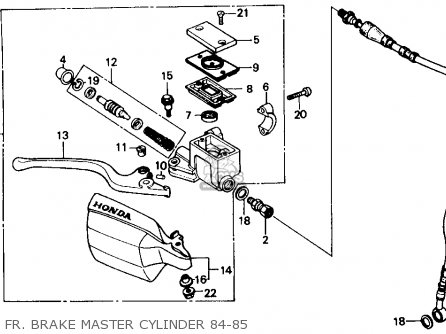 Honda Xr250r 1984 Usa Fr  Brake Master Cylinder 84-85