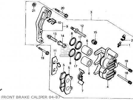 Honda Xr250r 1984 Usa Front Brake Caliper 84-87