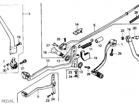 Honda Xr250r 1984 Usa Pedal