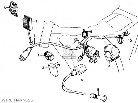 Honda Xr250r 1984 Usa Wire Harness
