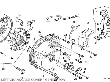 Honda Xr250r 1985 F Australia Parts Lists And Schematics