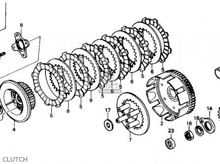honda xr250r 1986  g  usa parts list partsmanual partsfiche