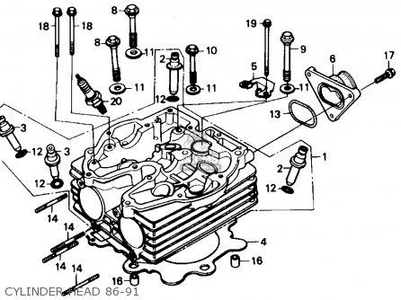 Honda Xl600r 1985 Usa Cylinder Head also Honda Cr250r Elsinore 1979 Usa furthermore Honda Xr250r 1988 Usa Carburetor 86 91 likewise 351826625125 moreover Honda 300 Trx Electrical Diagram. on honda trx250r