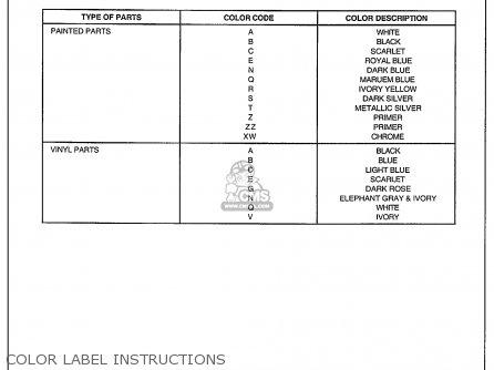 Honda Xr R J Usa Color Label Instructions Mediumhu Color C