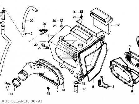 honda xr250r 1989 k usa parts lists and schematics 1986 Honda Xr250 air cleaner 86 91