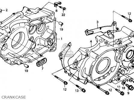 honda xr250r 1989 k usa parts lists and schematics Honda XR250 honda xr250r 1989 k usa crankcase