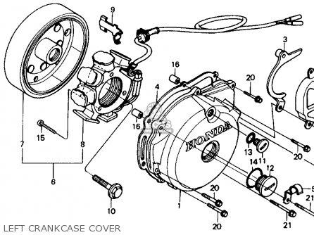 honda xr250r 1989 k usa parts lists and schematics Xr250 Clutch honda xr250r 1989 k usa left crankcase cover