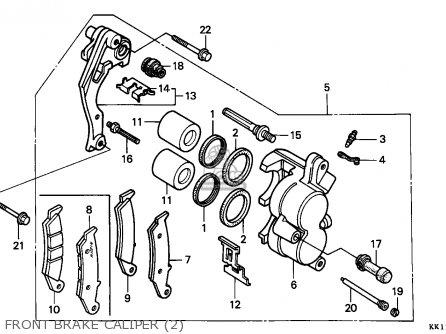 honda xr250r 1991 m canada parts lists and schematics Honda 250 Engine front brake caliper 2