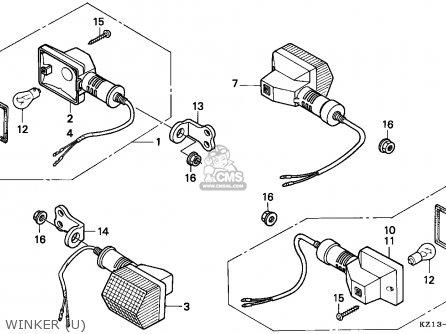 honda xr250r 1993 p australia parts lists and schematics SOHC Single Cylinder Four-Stroke Engine Parts winker u