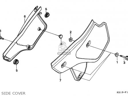 honda xr250r 1994 r belgium parts lists and schematics Honda XR 350 Engine Diagram honda xr250r 1994 r belgium side cover