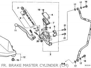 honda xr250r 1996 t canada ref parts lists and schematics Xr250 in Dirt fr brake master cylinder cm