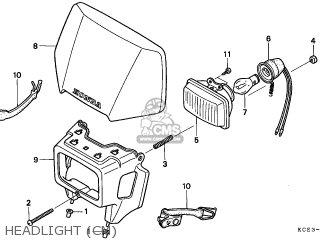 honda xr250r 1996 t canada ref parts lists and schematics Honda XR headlight cm