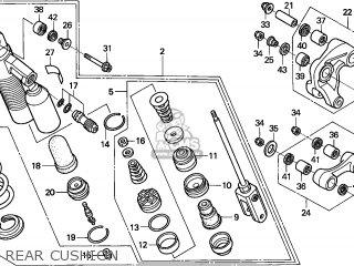 honda xr250r 2000 y australia ssw parts lists and schematics Honda XR250R honda xr250r 2000 y australia ssw rear cushion