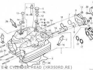 Honda XR350R 1984 (E) parts lists and schematics on