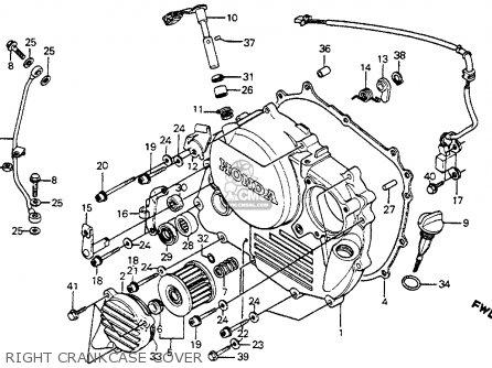 Honda Xr R E Usa Right Crankcase Cover Mediumhu E D Ae on Xr350r Wiring Diagram