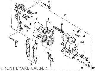 honda xr400r 1997 (v) usa parts lists and schematicshonda xr400r 1997 (v) usa front brake caliper