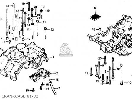 Honda Xr500r 1981 b Usa Crankcase 81-82