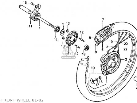 Honda Xr500r 1981 b Usa Front Wheel 81-82