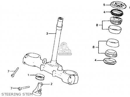 Honda Xr500r 1981 b Usa Steering Stem