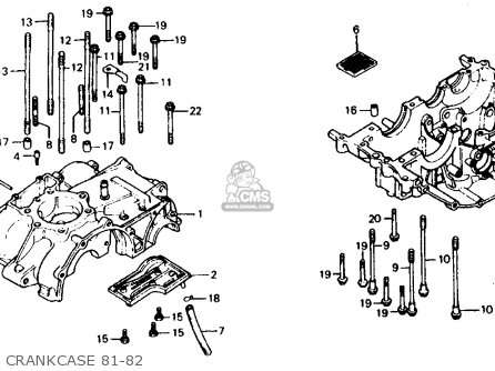 Honda Xr500r 1981 Usa Crankcase 81-82