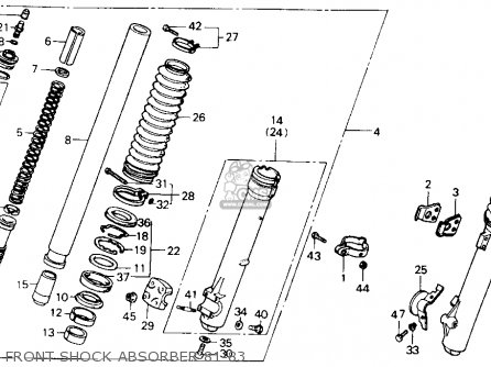 Honda Xr500r 1981 Usa Front Shock Absorber 81-83