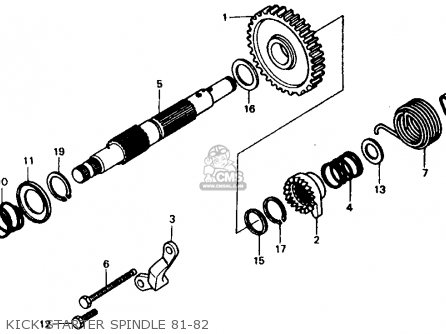 Honda Xr500r 1981 Usa Kick Starter Spindle 81-82