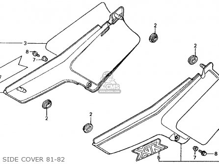 Honda Xr500r 1981 Usa Side Cover 81-82