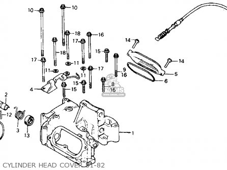 honda xr500r 1982 (c) usa parts lists and schematics  1982 honda xr500r wiring schematic #9