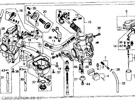 Honda Xr600r 1985 f Usa Carburetor 85-87