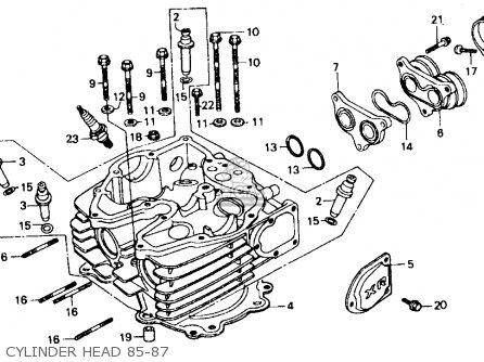 Honda Xr600r 1985 f Usa Cylinder Head 85-87