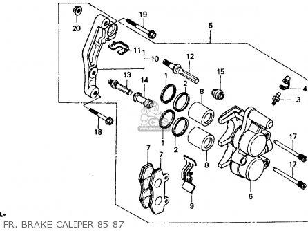Honda Xr600r 1985 f Usa Fr  Brake Caliper 85-87