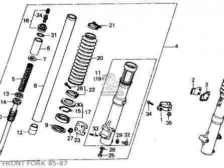 Honda Xr600r 1985 f Usa Front Fork 85-87