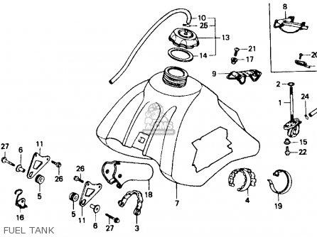Honda Xr600r 1985 f Usa Fuel Tank