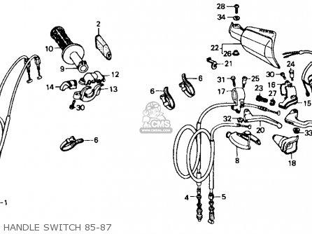 Honda Xr600r 1985 f Usa Handle Switch 85-87