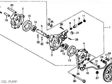Honda Xr600r 1985 f Usa Oil Pump