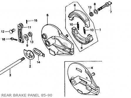 Honda Xr600r 1985 f Usa Rear Brake Panel 85-90